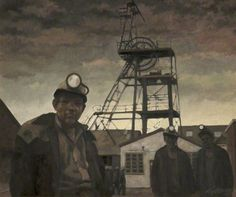 Roger Hampson - Hapton Valley Colliery I Collection: Salford Museum & Art Gallery Industrial Artwork, Orca Tattoo, Museum Art Gallery, Coal Mining, Urban Life, Art Uk, Your Paintings, Art Google, Body Art Tattoos