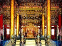 Emperor's Throne in the Forbidden City, Beijing