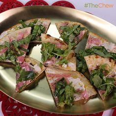 Festive Salami Flatbread by Mario Batali! #TheChew