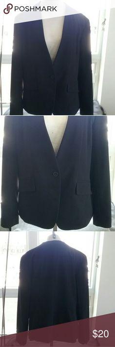 NY & Co single button blazer Black, single button blazer. Lined, however pockets are not functional. NY & Co Jackets & Coats Blazers