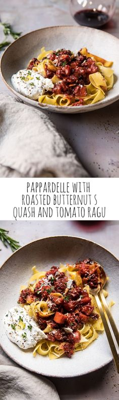Pappardelle with Roasted Butternut Squash and Tomato Ragu | halfbakedharvest.com @hbharvest