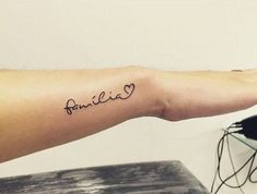 small, tatto, and family image Quote Tattoos Girls, Tattoos For Lovers, Family Tattoos, Name Tattoos, Mini Tattoos, Finger Tattoos, Body Art Tattoos, Small Tattoos, Tattoos For Women