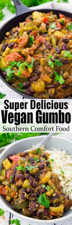 This vegan gumbo with kidney beans makes such a delicious and healthy dinner! Vegan food can be so delicious!! Find more vegetarian recipes at veganheaven.org!