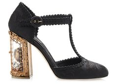 Dolce & Gabbana Mary Jane Pumps with Hinged Heels