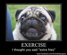 """Excercise.. I thought you said """"extra fries"""""""