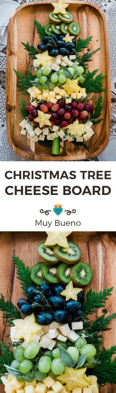 This Christmas, I'll be simplifying my cheese board and letting my kids make this easy-to-assemble and gorgeous Christmas tree cheese board. And you? #mexican #mexicanrecipe #Christmas #cheeseboard #Christmasrecipe | muybuenocookbook.com via @muybueno Christmas Cheese, Christmas Tree, Christmas Desserts, Christmas Decorations, Frugal Meals, Easy Meals, Healthy Snacks, Healthy Recipes, Delicious Recipes
