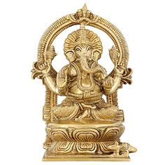 Lord Ganesha Sitting Home Décor 9.5 Inches Indian Art Religious Gifts Brass Statue ShalinIndia http://www.amazon.in/dp/B00TZU9K70/ref=cm_sw_r_pi_dp_wQV3vb0T8ABSM