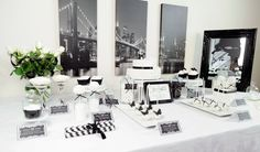 Stylish Black and White Fortieth Birthday Party {Decor, Ideas, Cake}