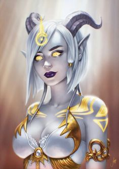 Beautiful lightforged draenei
