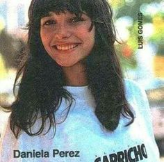 Daniella Perez em ensaio para a REVISTA CAPRICHO apoiando a campanha contra o virus da AIDS.
