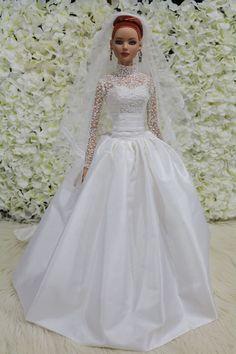 "WEDDING DRESS for American model 22"" Tonner doll 14/9/4 #tdfasiondoll"