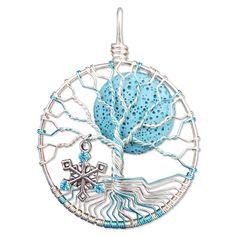 Snowflake Tree of Life Pendant