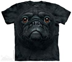 BLACK PUG FACE #pugdrawing