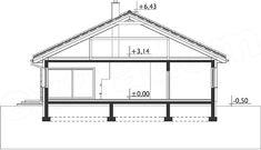 Rzut projektu Blanka - murowana – beton komórkowy Gazebo, Outdoor Structures, Home, Kiosk, Ad Home, Homes, Pavilion, House