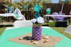 Diy Mermaid Center Pieces Made By Me Mmg 7 In 2019 Pinterest