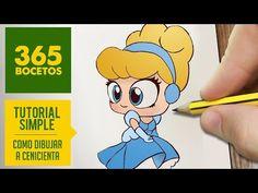 COMO DIBUJAR A CENICIENTA : Dibujar princesas disney en español - Dibujos Kawaii faciles. - YouTube