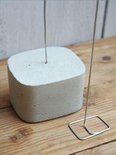 Kartenhalter -Stern & Beton - Handmade Kultur