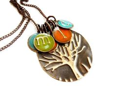 Personalized For Mom Family Kids Initials Necklace Jewelry, Family Tree Necklace Mother Birthday Gift Jewelry For Mom, Wife, Grandma, Sister by SusanAnna on Etsy https://www.etsy.com/listing/275014100/personalized-for-mom-family-kids