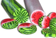 Hartman's watermelon canes | Polymer Clay Daily