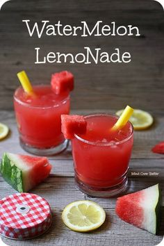Amazing Summer Watermelon Lemonade Cocktail Recipe
