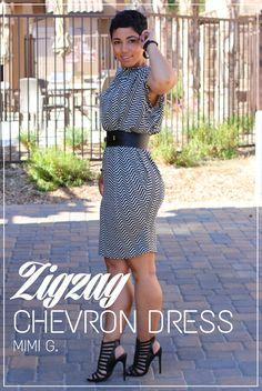 DIY Chevron Dress Restyled   Pattern V8898