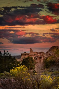Sunset at White Place by dfikar1 on Flickr, Abiquiu, NM