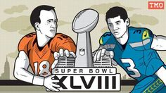 Manning vs. Russell-two different styles, but great quarterbacks nonetheless #SuperbowlXLVIII
