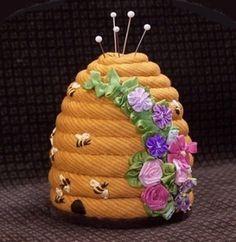 bee hive pin cushion