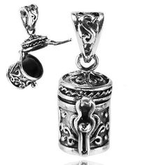Solid .925 Sterling Silver Antique Poison Prayer Filigree, Locket Pendant -sp134 in Jewelry & Watches, Fashion Jewelry, Necklaces & Pendants | eBay
