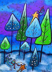Art: Winter Celebration III by Artist Juli Cady Ryan