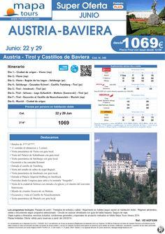 Austria-Baviera salidas 22 y 29 de Junio **Precio Final desde 1219** ultimo minuto - http://zocotours.com/austria-baviera-salidas-22-y-29-de-junio-precio-final-desde-1219-ultimo-minuto-10/