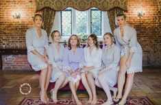 The Little Lovebird Real Brides wearing the Lacie Robes bride robe ed890bde6