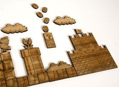 Super Mario Brothers bamboo magnets.