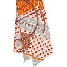 Clic-Clac a Pois Hermes silk maxi twilly, 87'' x 8''  Designed by Julie Abadie