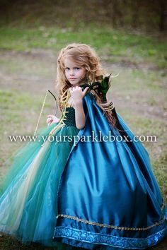 Merida Tutu Dress Costume by YourSparkleBox - soooo cute!!  I need a four year old girl...