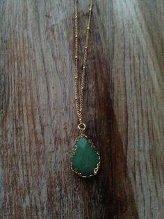 JA's FAVORITE MINT NECKLACE!!! $18.00 http://www.juliaannasboutique.com/#!product/prd1/3252253391/ala-mint-charm