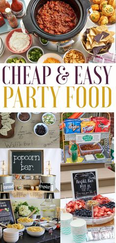 Are you looking for easy party food ideas? We gathered the easiest (but still looks impressive) party food platters, buffets and menu's to make sure that you canb prep your party in less with an hour without breaking the budget. #partyfoodideaseasy Party Food On A Budget, Cheap Party Food, Party Food Buffet, Easy Party Food, Cheap Party Ideas, Bbq Food Ideas Party, Fall Party Ideas, Party Food Bars, Food Budget