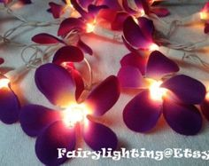 Cotton Ball String Lights For Home Decorparty Decorwedding Patio - Flower string lights for bedroom