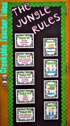 Jungle Rules with CTP's Lots of Dots Green Border #school #teacher #education #ideas #students #classroom #design #DIY