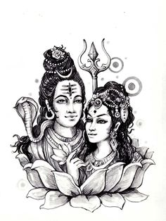 To print this free coloring page «coloring-adult-shiva-sati-india», click on the printer icon at the right