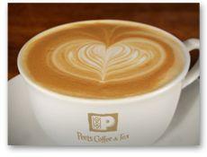 Peet's Coffee & Tea - California based cafe, with ALMOND MILK!!!! Yay!
