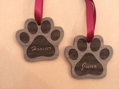 Pet Lovers Gift Paw Print Holiday Ornament Pet Loss Pet