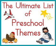If you're not sure how to cover some of those important skills and concepts that your preschooler should know, you might want to try using themes. Preschoo
