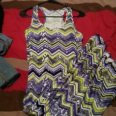 Neon tribal print maxi dress Tribal print Dresses Maxi