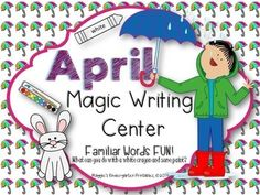 Special! $1 Need a great go-to center activity that will keep kids engaged and asking for more??? Here it is! Just Print-set up-go!Easy Setup: Gather up water color paint sets for two to a center, put a basket of white crayons and magic sheets nearby, and watch the reading fun begin!