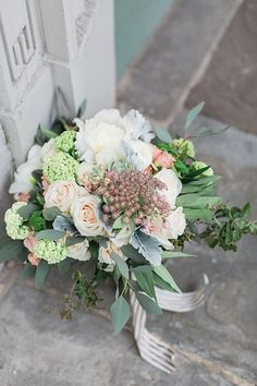 Floral Design: A to Zinnias Photo from Erika + Jarred's Wedding collection by Apt. B Photography
