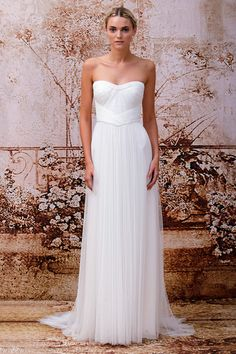 Emanuela - Silk white Spanish tulle strapless banded sweetheart gown with gathered detail at waist and full gathered skirt