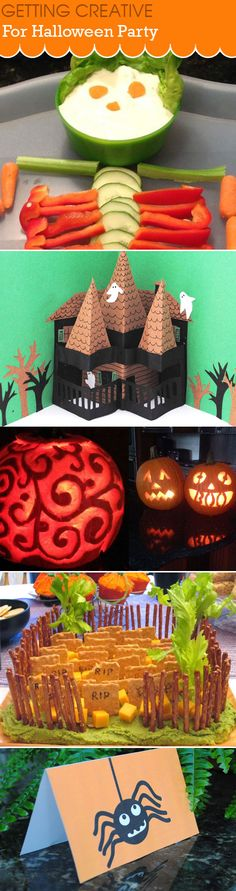 Everything you need for a Halloween party, invitation and recipes