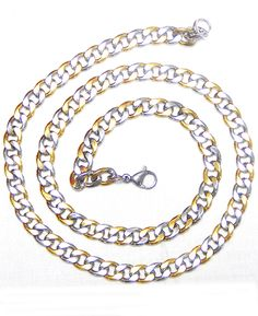 Glam Men chain Silver and Gold combination