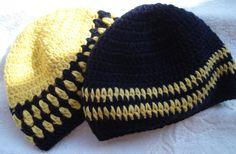 Gorros para meninos em crochet